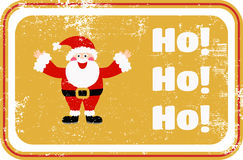 Jul Santa Rubber Stamp Arkivfoto