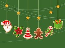 Jul semestrar klänningsamlingen av symboler, lyckligt nytt år Royaltyfria Bilder