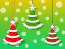 Jul semestrar tre symboler, lyckligt nytt år och garnering Royaltyfria Bilder