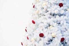 Jul semestrar vit bakgrund för utrymmetext royaltyfri bild