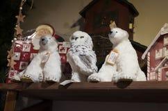 Jul shoppar av souvenir och smycken i staden av Sainte-Andr i Ungern Royaltyfria Foton