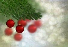 Jul smyckar och stjärnor Royaltyfri Fotografi