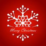 Jul Snöflingor för vit för kort för nytt år för ferie Royaltyfri Fotografi