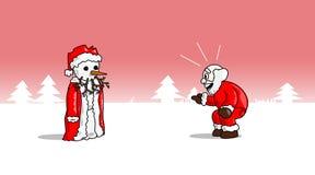Jul-snowsanta Arkivbilder