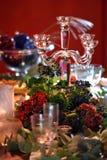 Jul som äter middag tabellen Royaltyfri Fotografi