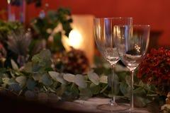 Jul som äter middag tabellen Royaltyfri Bild