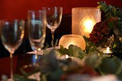 Jul som äter middag tabellen Fotografering för Bildbyråer