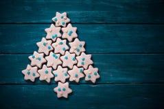 Jul som bakar begrepp Cookies Royaltyfria Foton