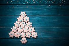 Jul som bakar begrepp Cookies Arkivfoto