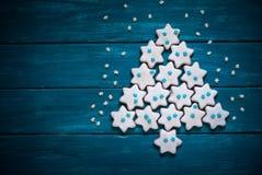 Jul som bakar begrepp Cookies Royaltyfri Foto