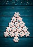 Jul som bakar begrepp Cookies Royaltyfri Fotografi
