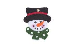 jul som dekorerar snowmantreen Royaltyfri Bild