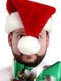 jul som fäster crazed banashoppare w ihop Royaltyfri Bild