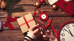 Jul som gåva-är klar för att förpacka Arkivbild
