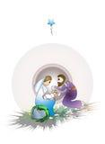 jul som greeting Stock Illustrationer
