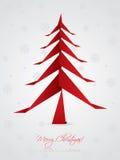 Jul som greeting design med origamitreen stock illustrationer