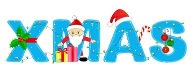 jul som greeting mas x vektor illustrationer
