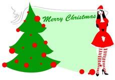 Jul som gteeeting kortet royaltyfri illustrationer