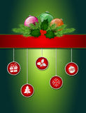 Jul som hälsar affischen Arkivbilder