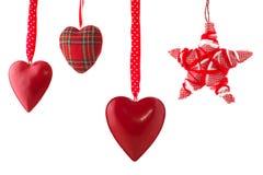 jul som hänger prydnadar Royaltyfri Fotografi