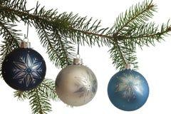 jul som hänger prydnadar arkivfoto
