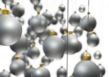 jul som hänger prydnadar Arkivfoton