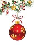 jul som hänger prydnaden Arkivbild