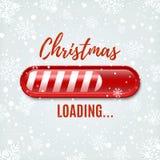 Jul som laddar stången på vinterbakgrund stock illustrationer