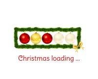 Jul som laddar stången på vit bakgrund Royaltyfri Fotografi