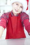 jul som lagar mat flickan royaltyfri fotografi