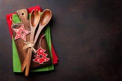 Jul som lagar mat tabellen Arkivfoto