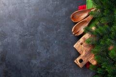 Jul som lagar mat tabellen royaltyfri bild