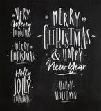 Jul som märker krita vektor illustrationer