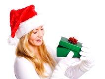 jul som rymmer över den aktuella vita kvinnan Arkivbilder