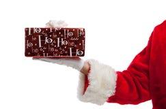 jul som rymmer aktuella santa Royaltyfria Foton
