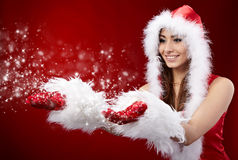 jul som rymmer stjärnakvinnan Arkivfoton