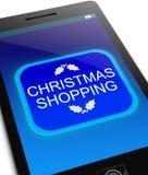 Jul som shoppar begrepp Arkivfoto