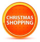 Jul som shoppar den naturliga orange runda knappen vektor illustrationer