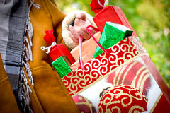 Jul som shoppar - ferieförsäljning royaltyfri bild