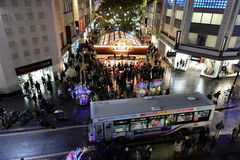 Jul som shoppar gatan Fotografering för Bildbyråer