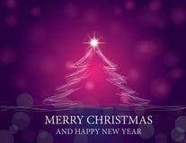 jul som skiner treen Arkivbilder