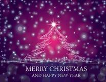 jul som skiner treen Arkivbild