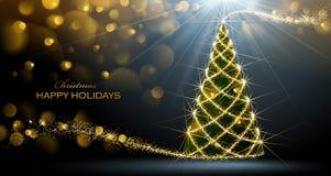 jul som skiner treen Royaltyfria Foton