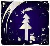 jul som tecknar grungevektorn Royaltyfri Fotografi