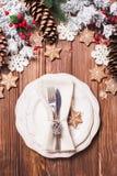 Jul som tjänar som tabellen Royaltyfri Foto