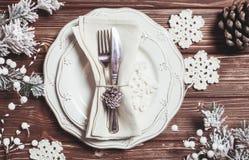 Jul som tjänar som tabellen Royaltyfri Bild