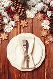 Jul som tjänar som tabellen Royaltyfri Fotografi