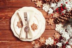 Jul som tjänar som tabellen Royaltyfria Bilder