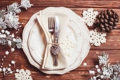 Jul som tjänar som tabellen Royaltyfria Foton