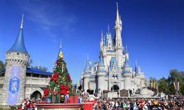 Jul ståtar i det magiska kungariket, Orlando, Florida Arkivfoton